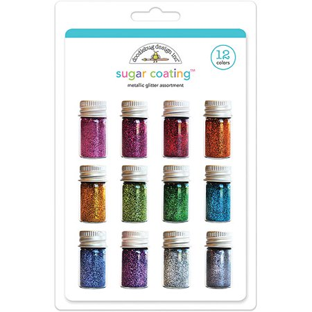 Doodlebug Sugar Coating Metallic Glitter Set, 12/pkg ()