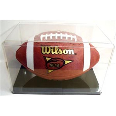 Miniature Football Display - Creative Sports Enterprises PT-CC8-B Football Display Case Black Base