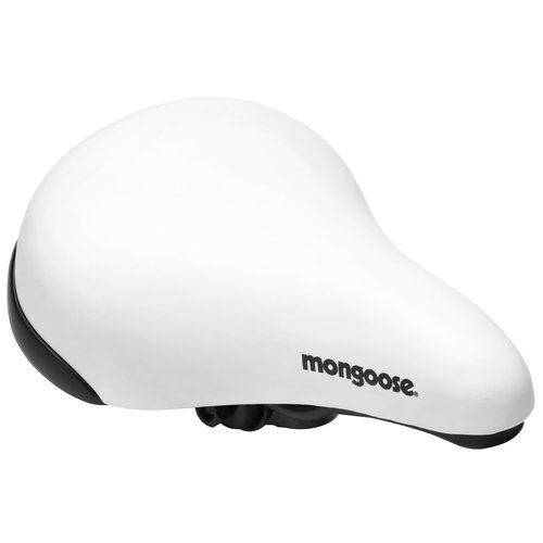 Mongoose BMX Bike Saddle, White