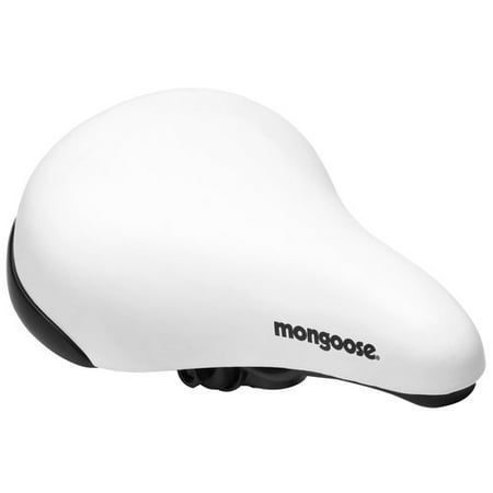 Mongoose BMX Bike Saddle, White