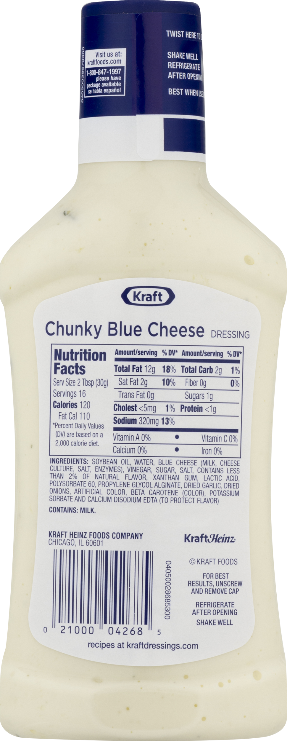 blue cheese dressing calories