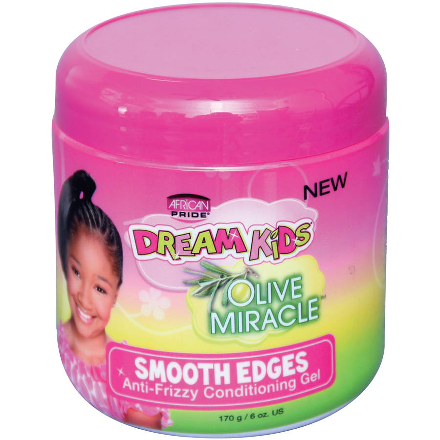 African Pride Dream Kids Olive Miracle Smooth Edges Anti-Frizzy Conditioning Gel, 6 oz