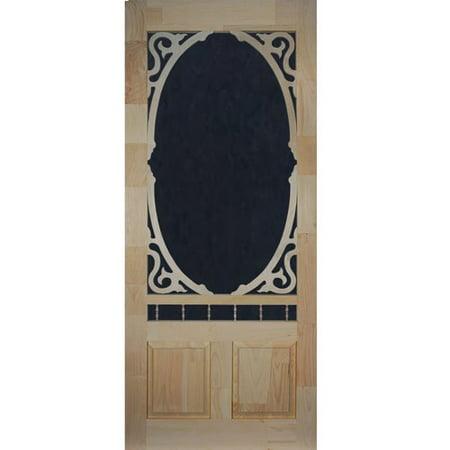 Kimberly Bay Clarington Unfinished Wood Slab Screen Door