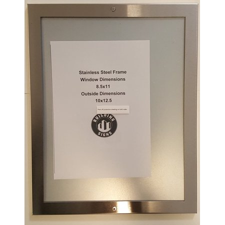 - ELEVATOR PICTURE FRAME 8.5X11 stainless Steel