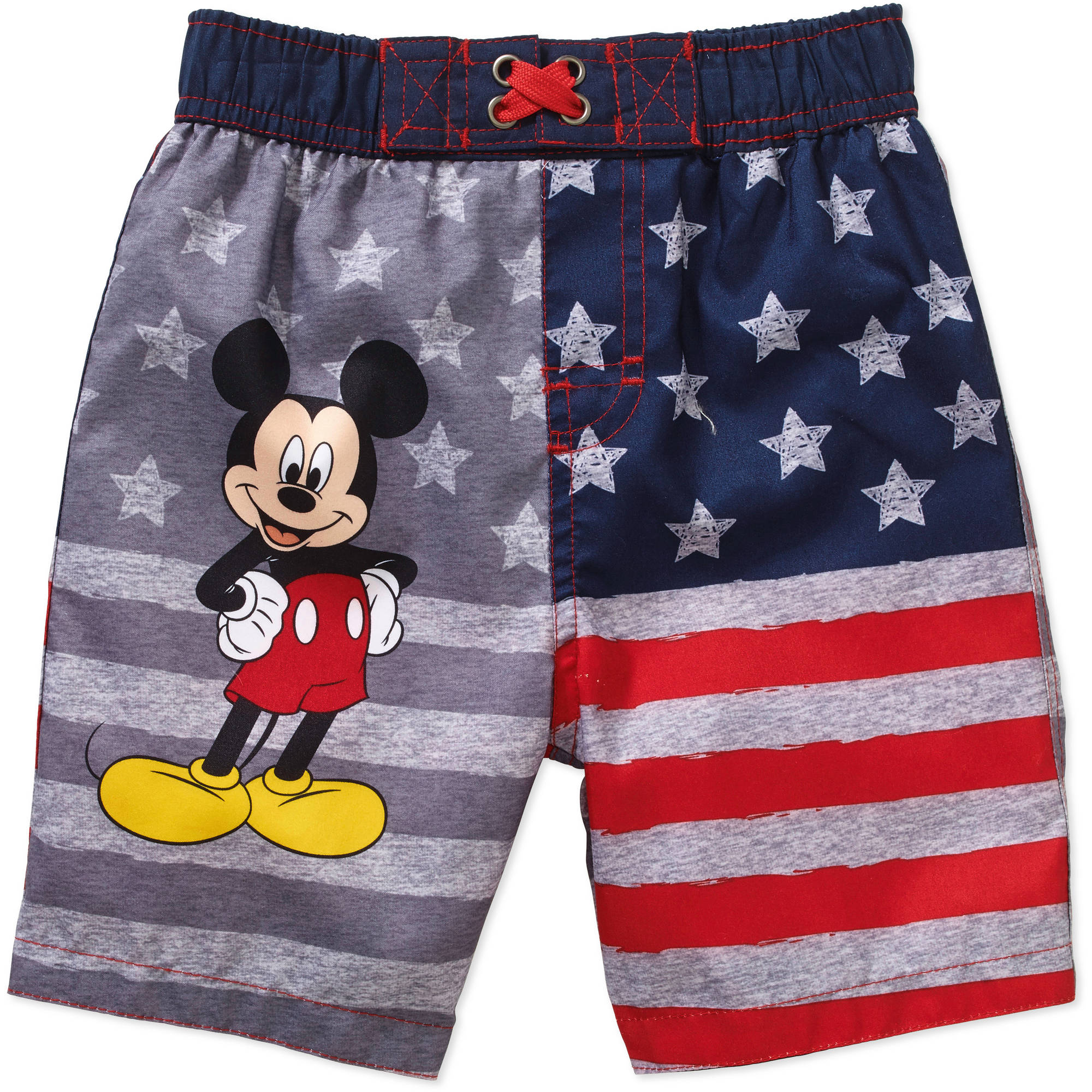 Mickey Mouse Baby Toddler Boy Americana Swim Trunks