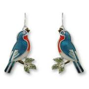 Zarah 32-10-Z1 Singing Bluebird Ultrafine Silver Plate Earrings