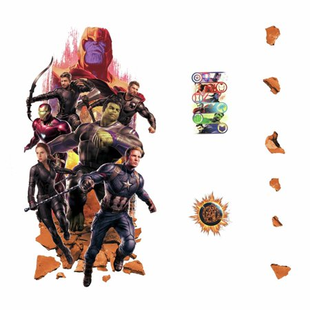 New Avengers Endgame 26 Peel & Stick Giant Wall Decals Hulk, Iron Man, Thor Kids Room Stickers - Avengers Wall Decal