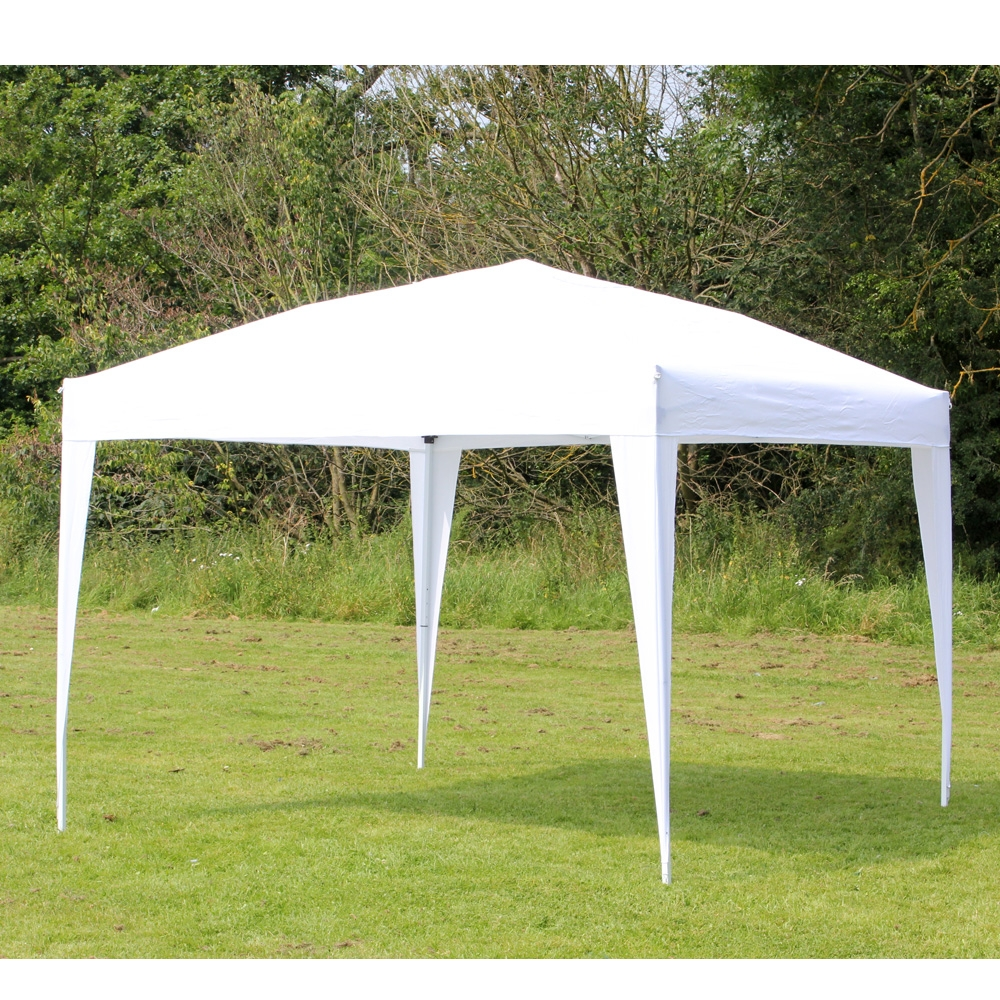 10 x 10 PALM SPRINGS EZ POP UP WHITE CANOPY GAZEBO TENT NEW : white canopy tent - memphite.com