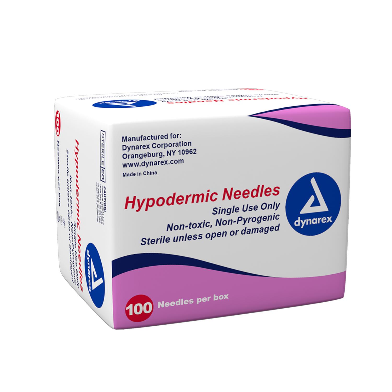 """Dynarex Hypodermic Needle 22G, 1 1/2"""" needle 1 Case"""