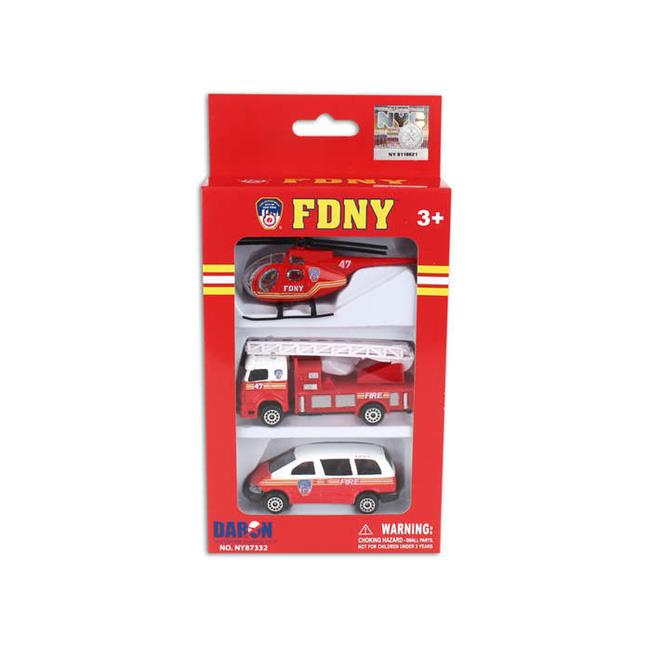 Merchandise NY87332 Fdny Vehicle Set, 3 Pieces