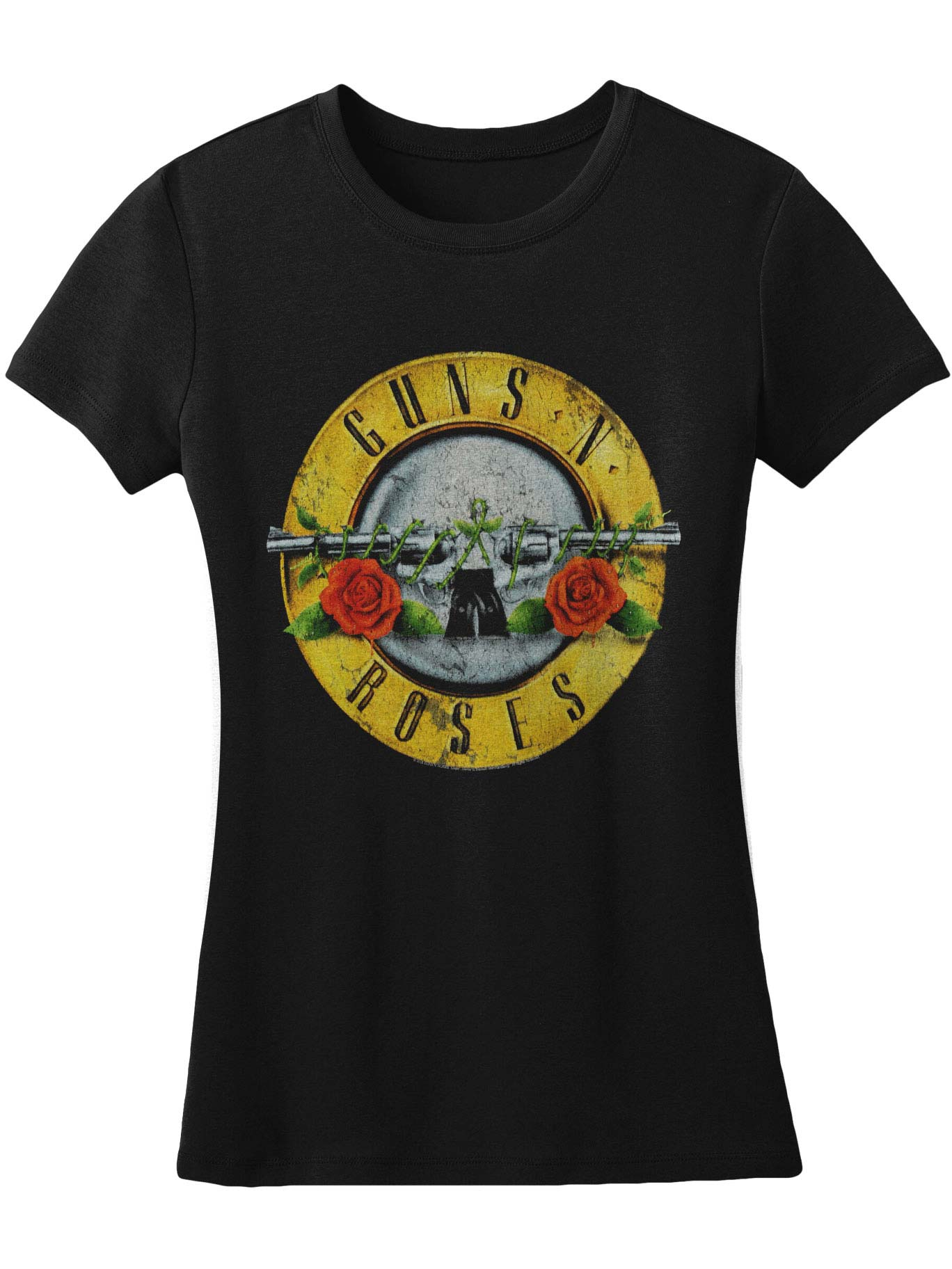 Guns N Roses  Distressed Bullet Girls Jr Black