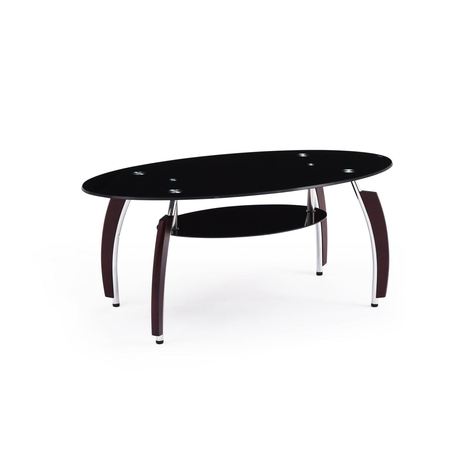 Hodedah HICT34 Oval Coffee Table