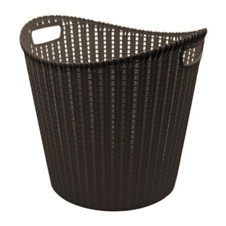 Lotus USA Decorative Rattan Basket - Round Tall - Black 3 Pack - Tall Baskets