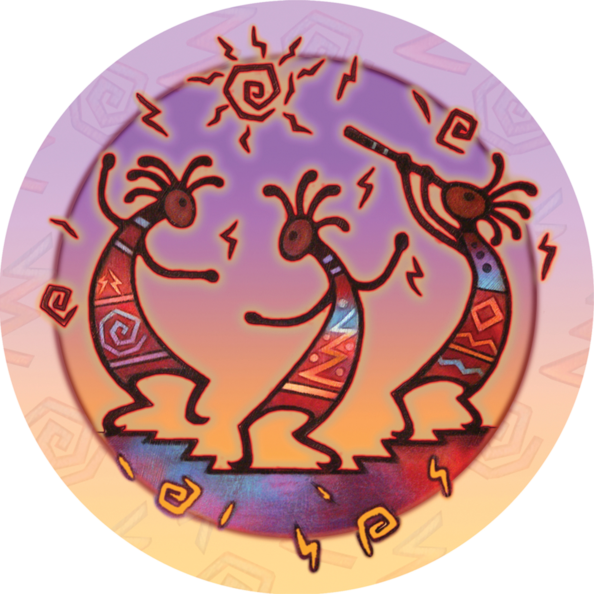 Thirstystone Occasions Drink Coasters, Kokopelli Dance