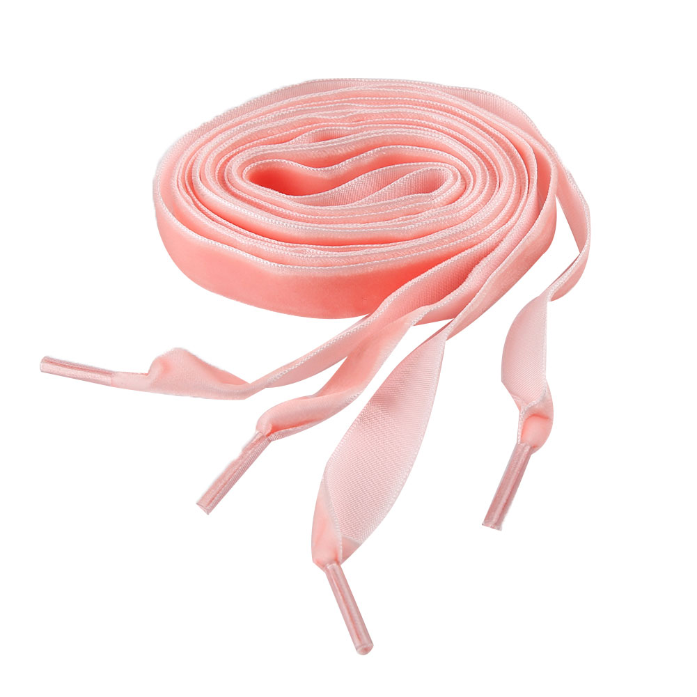 Braceus Women Flat Velvet Ribbon Shoelaces Hiking Walking Dance Leather Shoes Laces