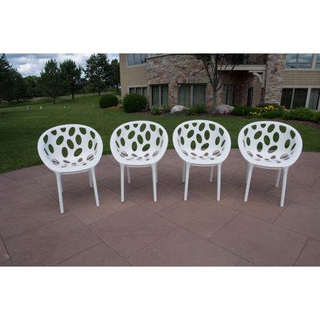 Stupendous Strata Furniture Nido All Season Resin Patio Dining Chairs Set Of 4 Spiritservingveterans Wood Chair Design Ideas Spiritservingveteransorg