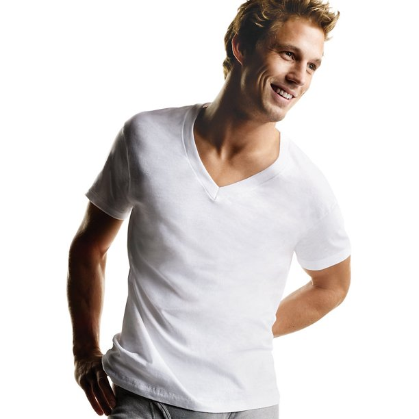 Hanes Men's TAGLESS® V-Neck Undershirt 5-Pack (2X-3X) - 777P5