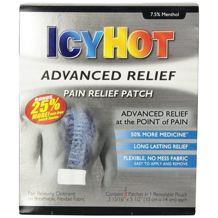 Icy Hot Advanced Relief Pain Relief Patches, 5