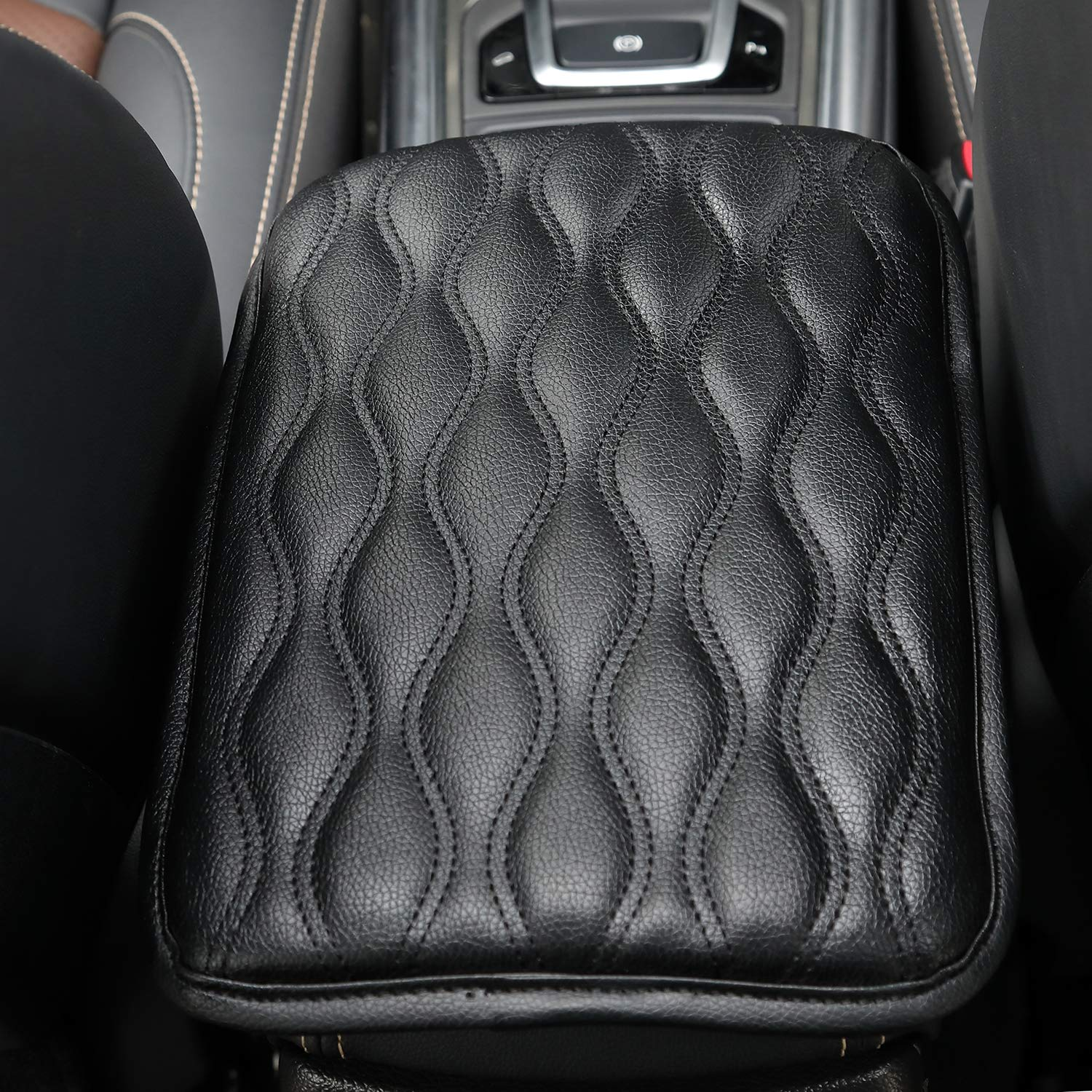 VRGT Car Center Console Armrest Cover Pad,Soft Auto Arm Rest Cushion fit Most Car Vehicle SUV Truck Car 12.6x7.5inch