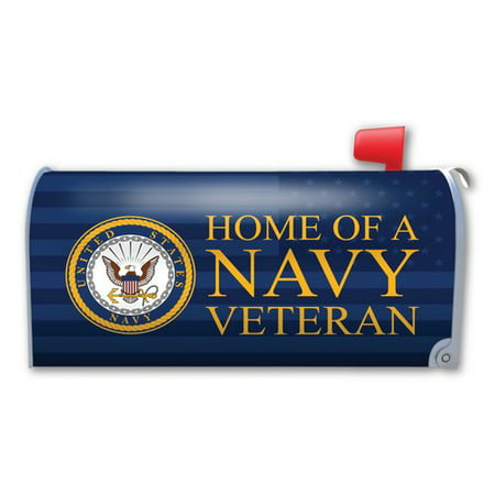 Magnet America Home of a Navy Veteran Magnetic Mailbox -