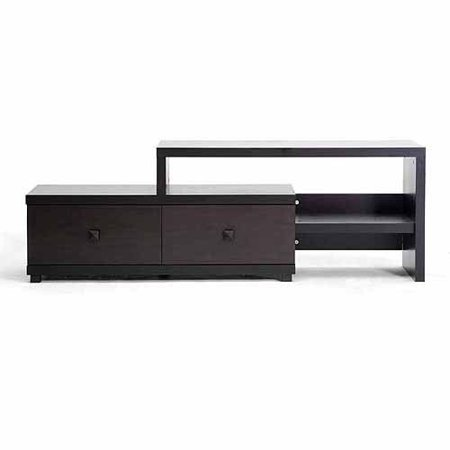 Baxton Studio Blythe TV Entertainment Stand - Light Cappuccino