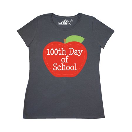 100th Day Of School Apple Women's T-Shirt (100th Day)