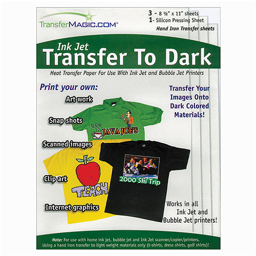 "Transfer Magic Ink Jet Transfer Paper for Dark Fabric, 8-1/2"" x 11"", 3pc"