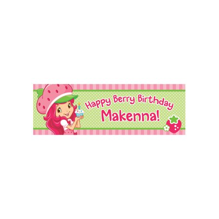 Personalized Strawberry Shortcake Berry Birthday Banner - (Strawberry Shortcake Birthday Banner)