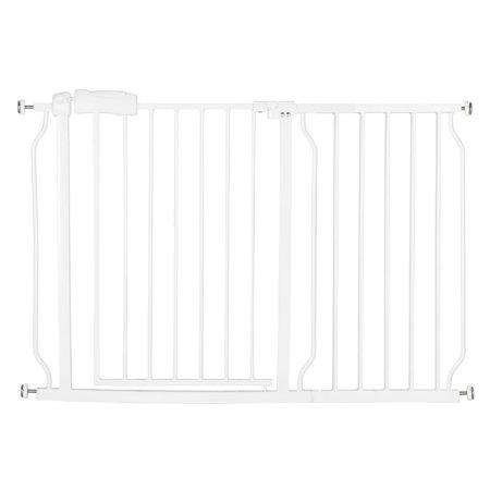 Baby Gate with Pet Door, Auto Close Safety Baby Gate with Swim Door, 43.3