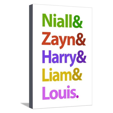Niall Zayn Harry Liam and Louis Music Poster Stretched Canvas Print Wall Art - Zayn Et Louis Halloween