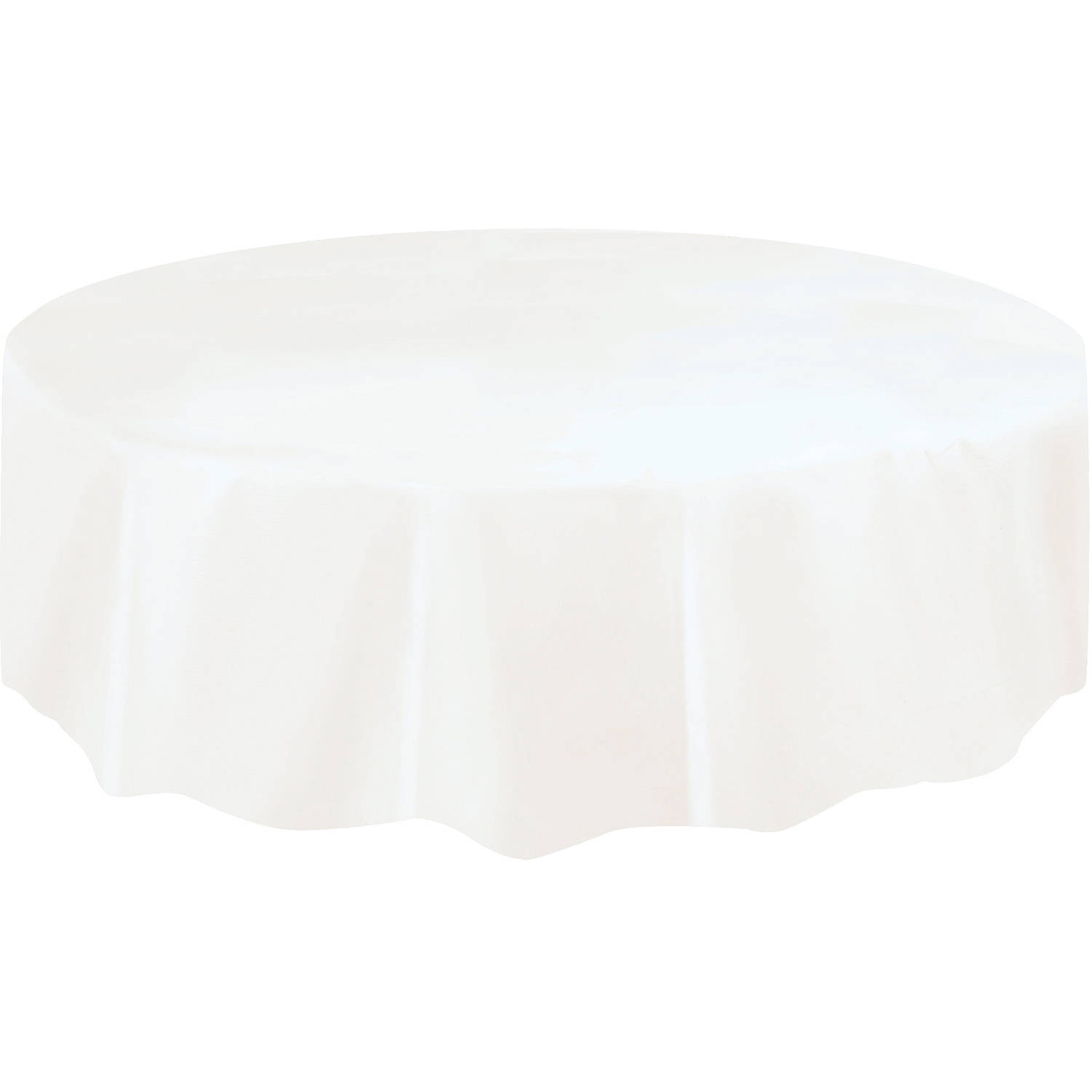 Attrayant Plastic Round Tablecloth, 84 In, White, 1ct   Walmart.com