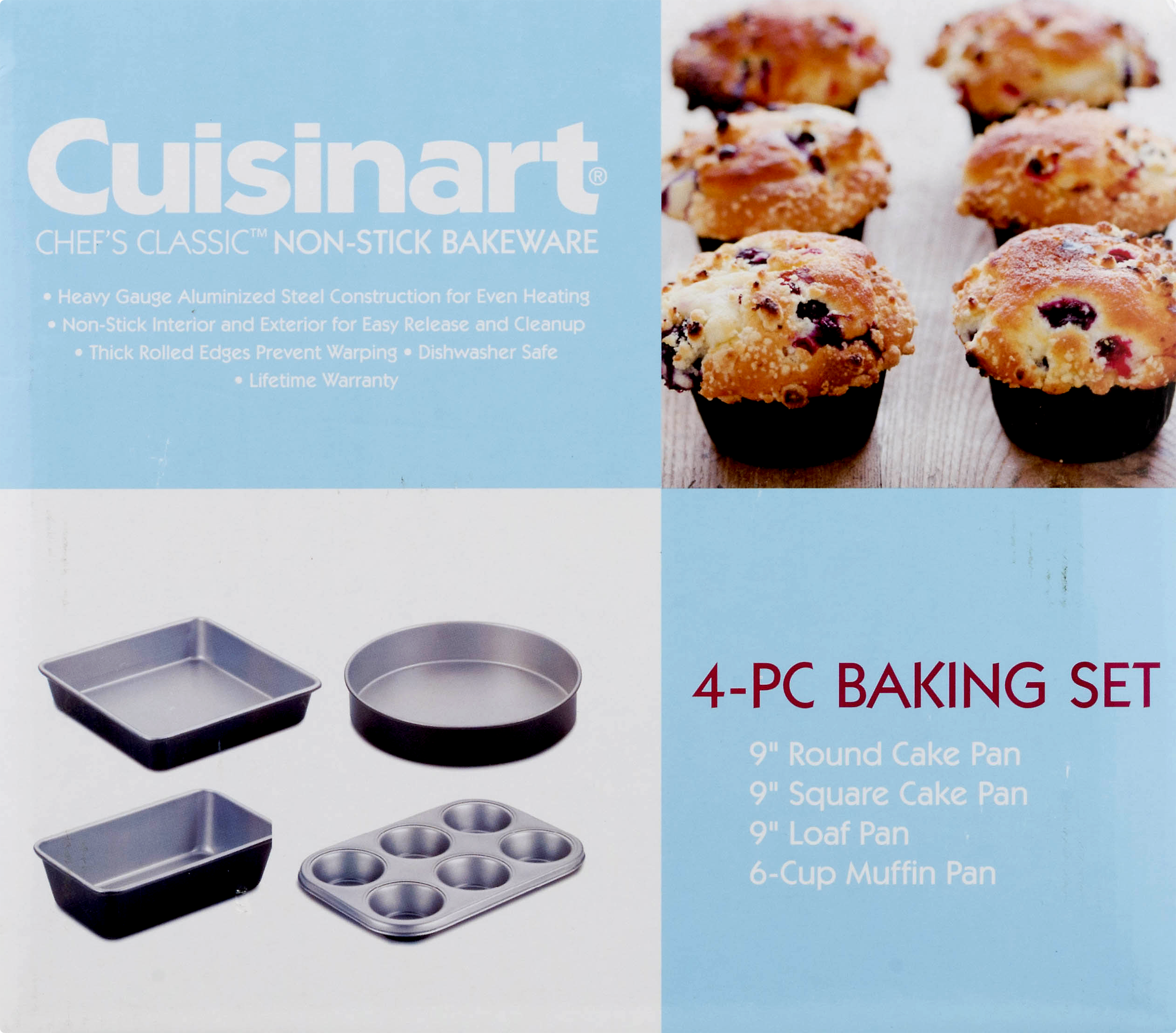 Cuisinart AMB-4 Chefs Classic Nonstick Bakeware 4-Piece Starter Set