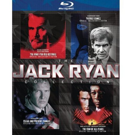 The Jack Ryan Collection   Patriot Games   Clear And Present Danger   The Hunt For Red October   The Sum Of All Fears  Blu Ray   Widescreen