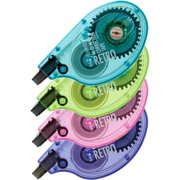 Tombow, TOM68679, Single-line Bright Dispnsr Correction Tapes, 4 / Pack, Assorted