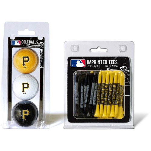 Team Golf MLB Pittsburgh Pirates 3 Golf Balls And 50 Golf Tees