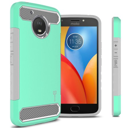 Coveron Motorola Moto E4 Plus  E Plus 4Th Generation  Case  Arc Series Hybrid Phone Cover With Carbon Fiber Accents
