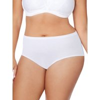 Just My Size Women's Plus Cotton Brief Panties 8 Pack