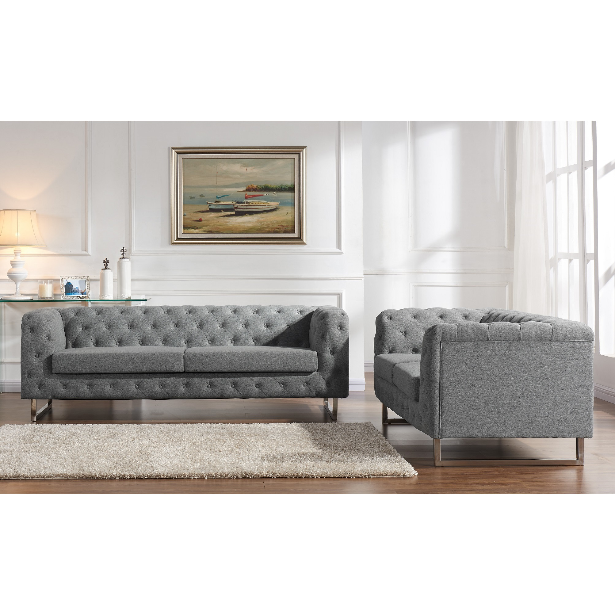 Gray Tufted Sofa Cheap Gray Color Tufted Sofa Between Square