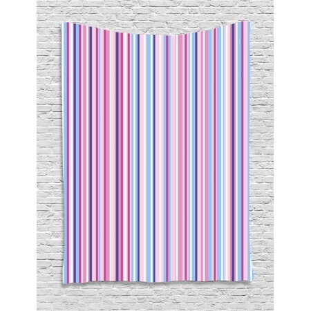 Abstract Tapestry Vertical Striped Gradient Different Colored Lines Tile Bands Image Wall Hanging For Bedroom Living Room Dorm Decor Baby Pink