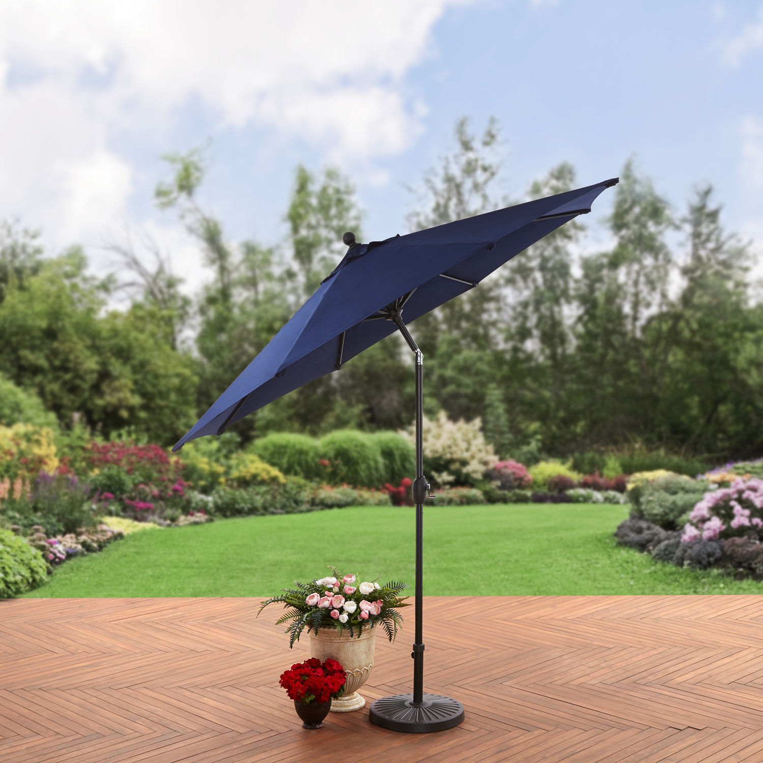 Better Homes and Gardens 9ft Aluminum Umbrella SDA Push Button Tilt by NINGBO EVERLUCK OUTDOOR PRODUCTS MANUFACTING CO LTD