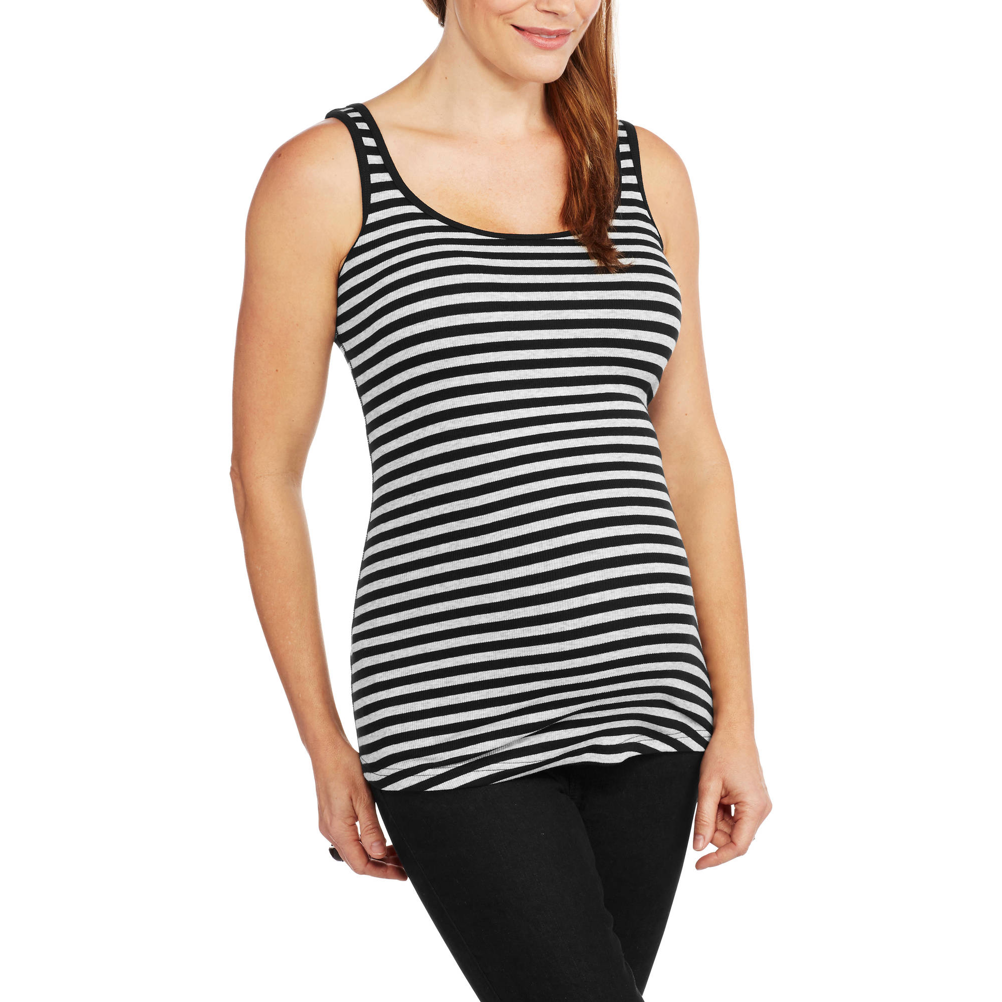 Faded Glory Maternity Ribbed Tank Top