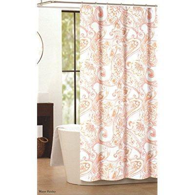 nicole miller fabric shower curtain cotton 72x72 large damask ...