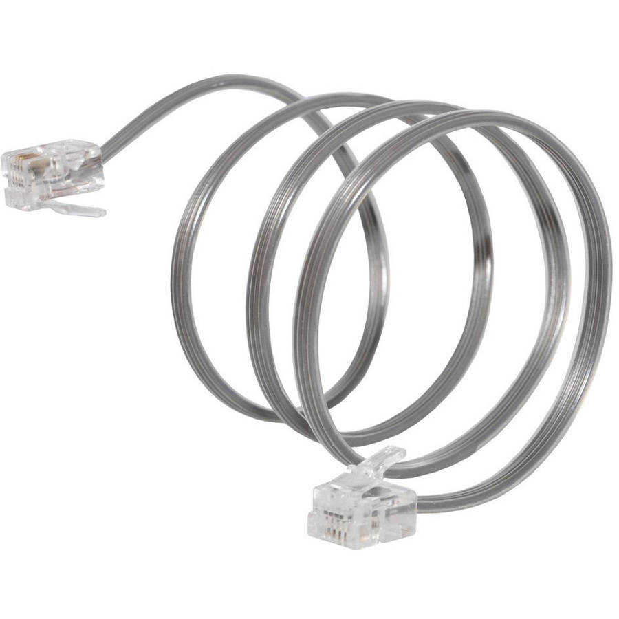 Amzer High-Quality Telephone Accessory Line Cord, 2'