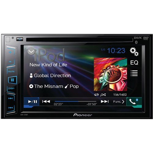 "Pioneer AVH-270BT 6.2"" Double-DIN DVD Receiver with Bluetooth by Pioneer"