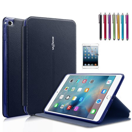 Mignova Ipad Mini 4 Case   Ultra Slim Lightweight Smart Stand Cover Case With Auto Wake   Sleep For Apple Ipad Mini 4  2015 Edition  7 9 Inch Tablet  Blue