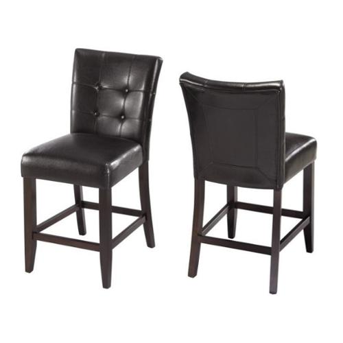 "Modus Furniture Bossa 24"" Counter Parsons Stool in Black (Set of 2)"