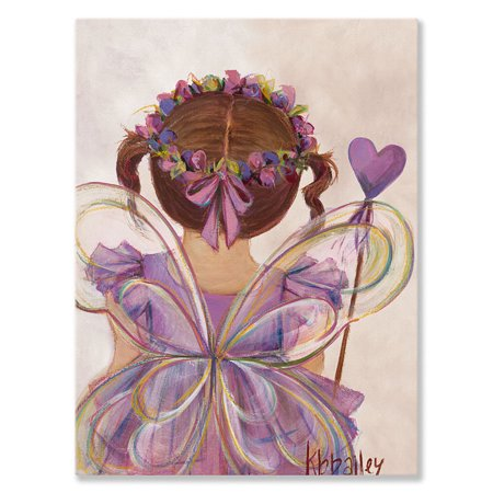 - Oopsy Daisy - Canvas Wall Art Little Fairy Princess - Brunette 14x18 By Kristina Bass Bailey