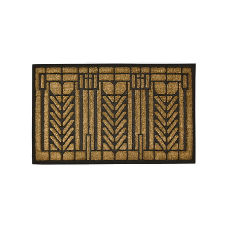 - Frank Lloyd Wright Tree of Life Doormat - Darwin D. Martin House Design Welcome Mat - Durable Natural Coir
