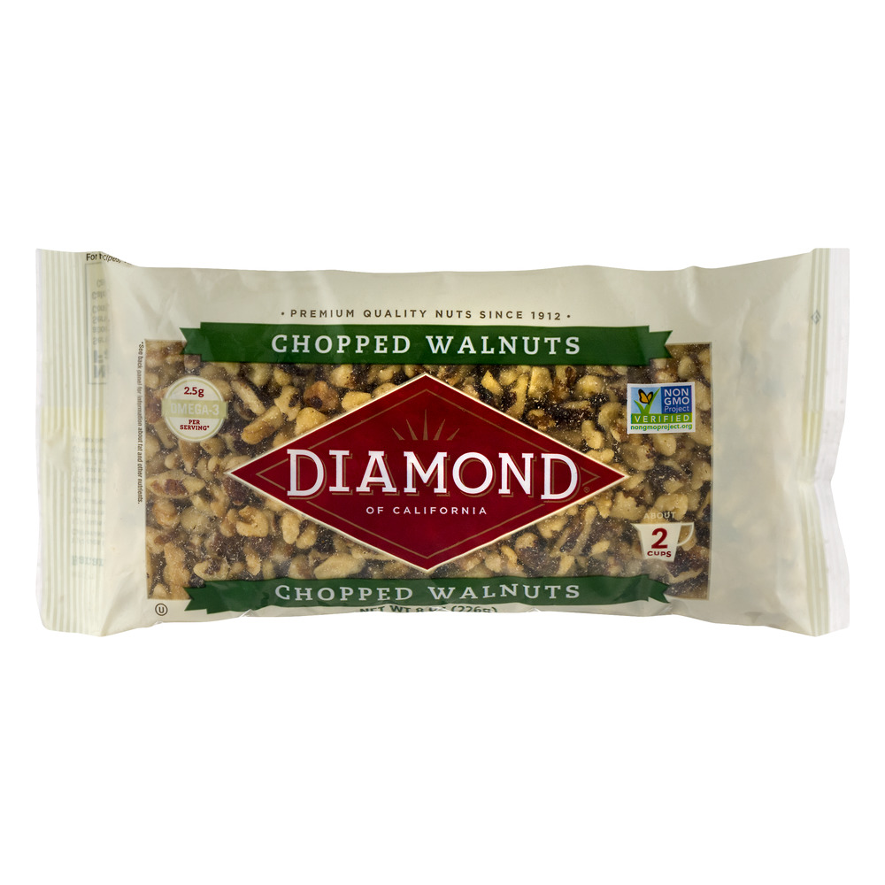 Diamond Of California Chopped Walnuts, 8.0 OZ