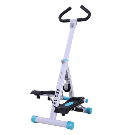 Soozier Adjustable Stepper AB Body Workout Machine Aerobic Fitness Exercise w/ Handle Bar and LCD Monitor
